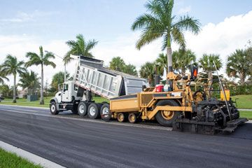 Laying Asphalt Pavement