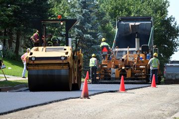 Laying New Road With Infrared Asphalt Repair