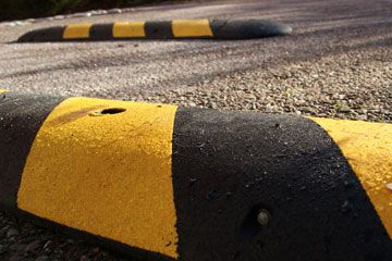 Speed Hump In Compliance With Safety Regulations